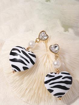 Heart Shape Resins Honey Girl Fashion Earrings