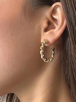 Trendy Simple Twist Geometry Stud Earrings