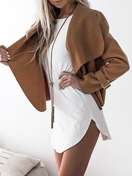 Fashion Solid Cardigan Short Coat For Women