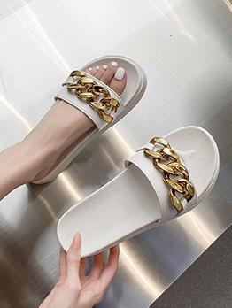 Korean Style Casual Beach Women Slide Slippers