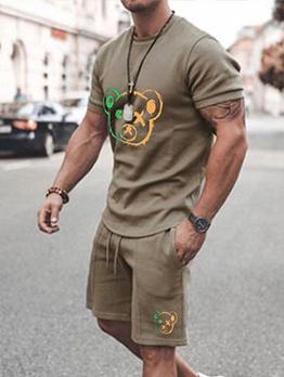 Casual Crew Neck Men Short Sleeve Activewear