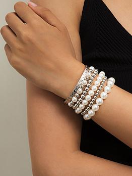 National Beaded Faux-Pearl CCB Bracelet Set