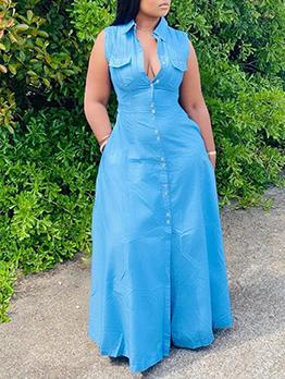 Pure Sleeveless Plus Size Designer Dresses