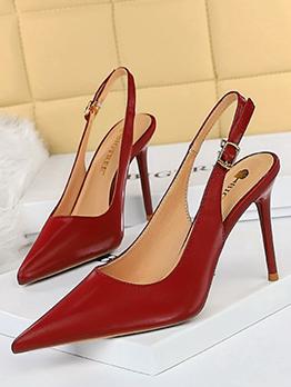 Sexy Simple Design Slip On Heels For Women