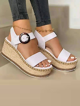Summer Contrast Color Wedge For Women