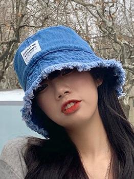 Casual Denim Summer Bucket Hat For Women