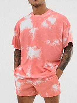Casual Loose Tie Dye Activewear Sets For Men