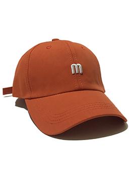Fashion Embroidery Letter M Baseball Cap