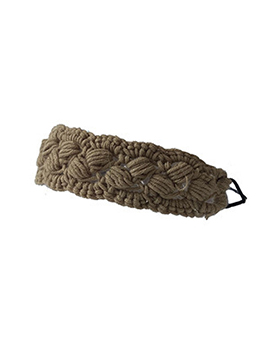 Simple Hand-Knitted Yarn Solid Headband For Ladies