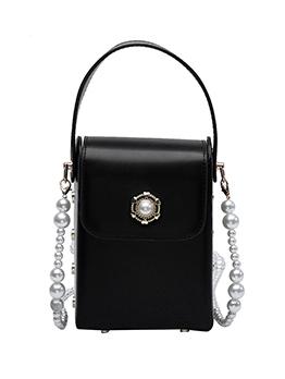 Textured Vintage Versatile Faux-Pearl Shoulder Bags