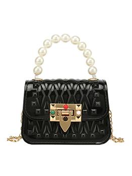 Eye-Catching Faux-Pearl Chain Mini Shoulder Bags