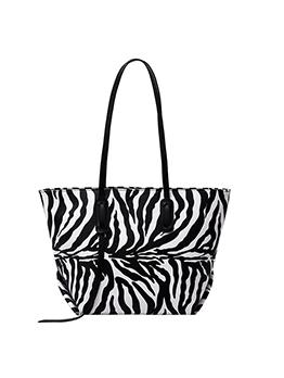 Shopping Zebra Animal Printed Tote Bag For Women