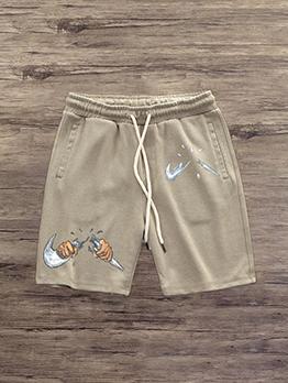 Casual Printed Loose Short Pant For Men