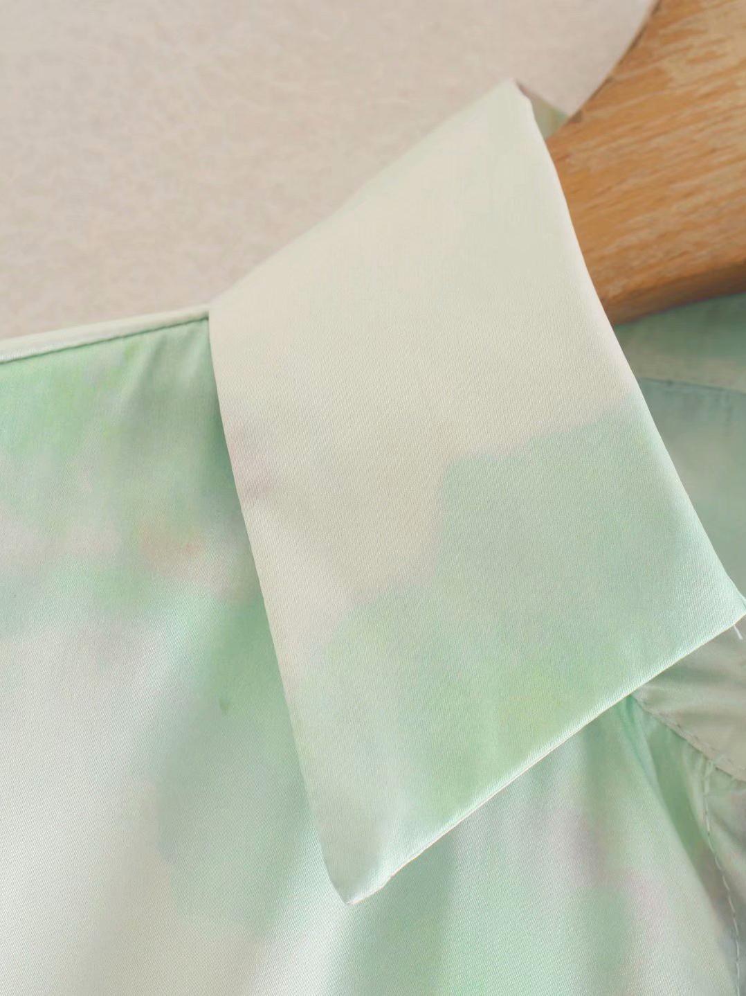 New Tie Dye Long Sleeve Blouse