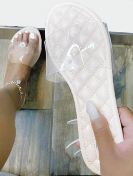 Rhombus lattice summer casual slide sippers for women