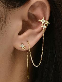 Korean Star Chain All-Match Earrings