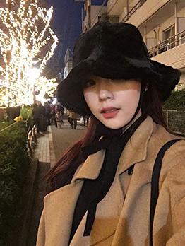 Korean Winter Thicker Warmth Vintage Bucket Hat