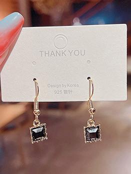 Korean Style Online Inlay Zircon Earrings Accessories
