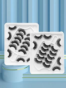 Pretty Plain Black 8 Pairs Pack False Eyelashes