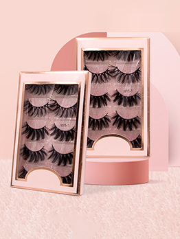 5 Pairs Pack Natural Dense False Eyelashes