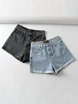 Sexy High Waist Heart Denim Short Pants