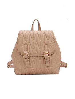 Korean Style Solid Backpack For Girls
