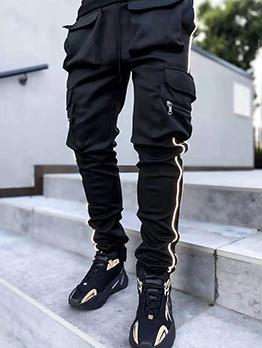 Sport Straight Pocket Loose Long Pants