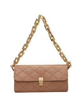 New Fashion Rhombus Lattice Chain Handbag For Women