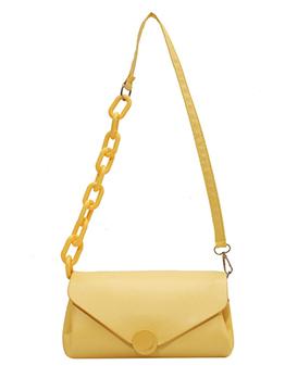 Leisure Solid Hasp Shoulder Bag For Women