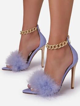 American Style Sexy Nightclub Ladies Heel Sandals
