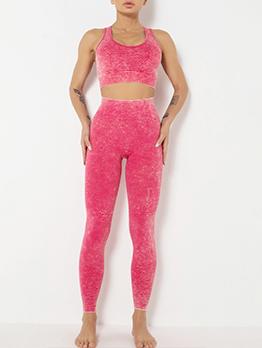 New Yoga Pure Color 2 Piece Outfit Sets