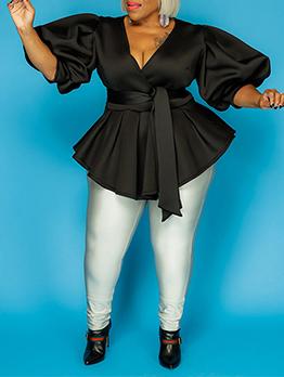 Plus Chic Cute Lantern Sleeve Mini Pleated Dress