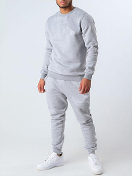 New Solid Long Sleeve Mens Activewear