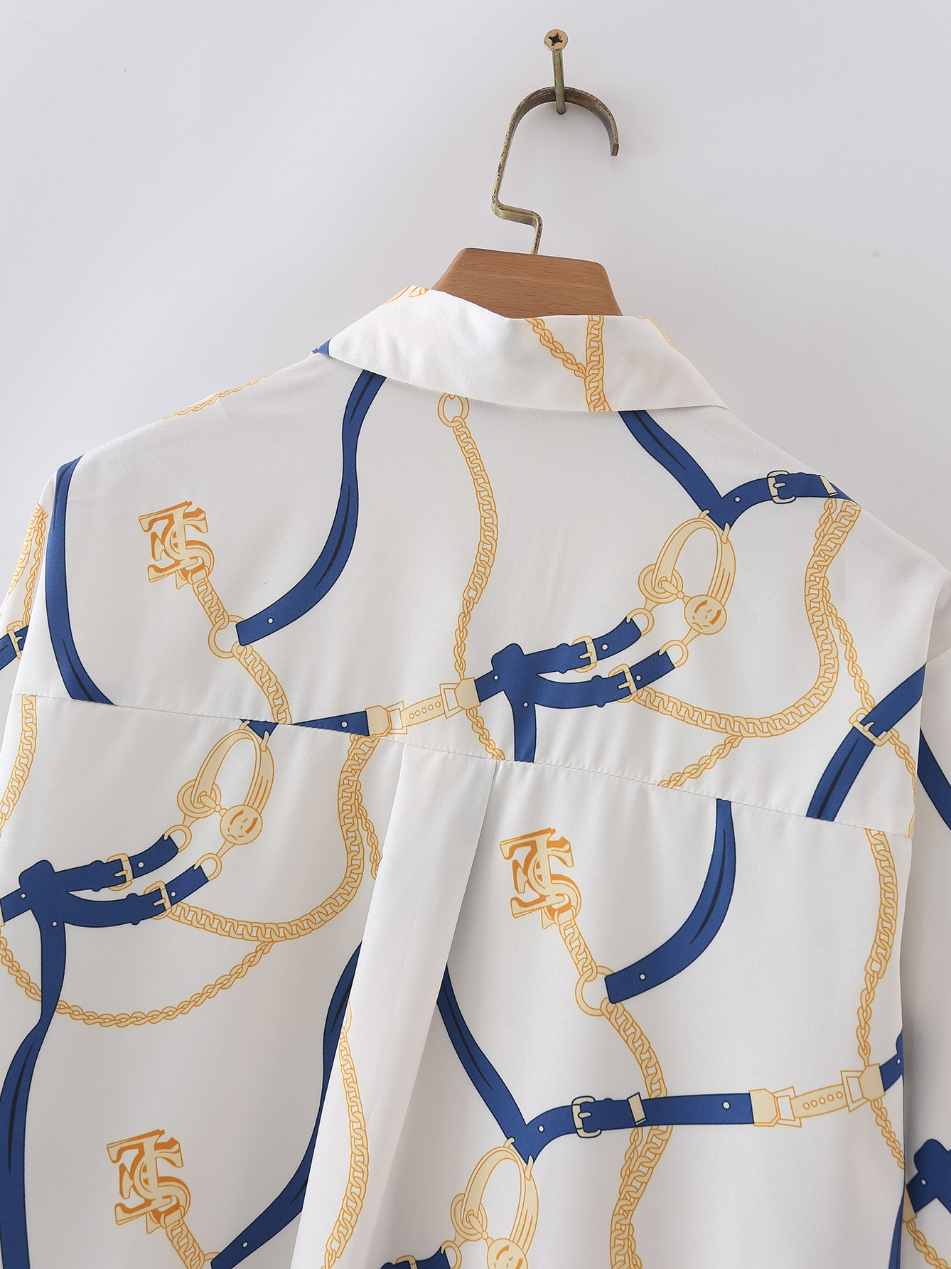 Summer Leisure Printed Long Sleeve Blouse For Women