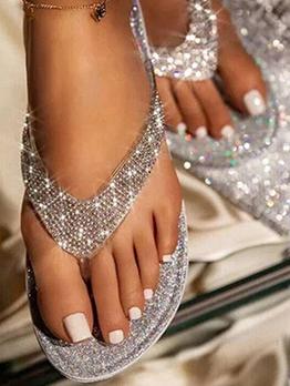 Popular Round Toe Flip Flop Slippers