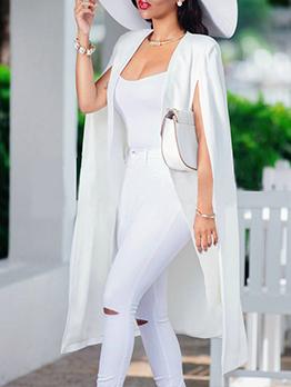 Autumn Design Solid Long Coat Women