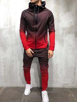 Casual Gradient Color Design Two Pieces Sets For Men
