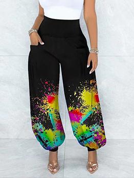 Loose Street Graffiti Style Fashion Harem Long Pants