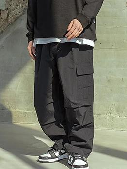 Loose Pocket Cargo Pants For Men