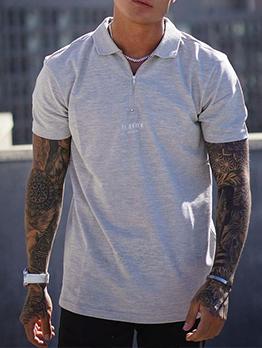 Casual Polo Short Sleeve Zipper Shirts