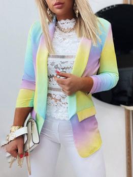 OL Style Tie Dye Long Sleeve Blazer Coat