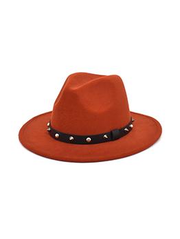 Fashion Rivets Unisex Woolen Felt Fedora Hat