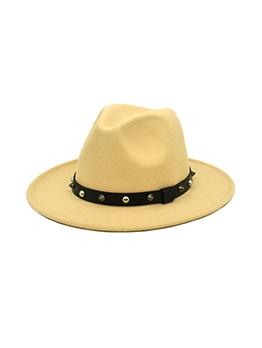 Trendy Rivet Unisex Felt Fedora Hat