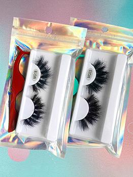 Pure Handmade Black 1 Pair False Eyelashes