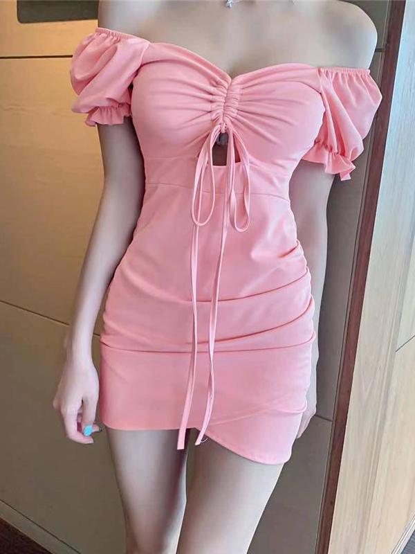 Seductive Black V Neck Backless Sleeveless Mini Dress