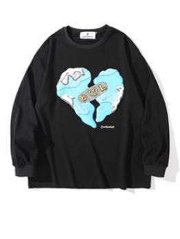Casual Print Long Sleeve Pullover Sweatshirt