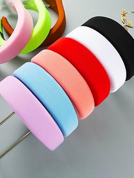 Simple Design Sponge Cloth Wide Hair Hoop
