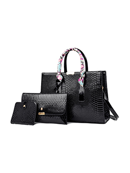 All-Match Solid Embossing One Shoulder Hand Bags Set