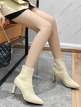 New Korean Style Point Toe Martin Boots
