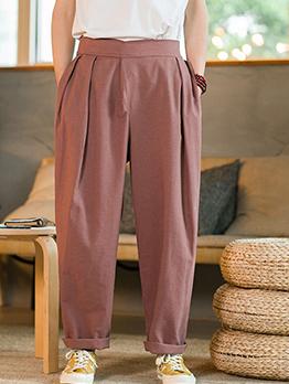 Latest Style Men Plus Size Mid Waist Harem Pants
